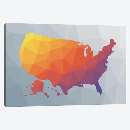 Geo Map II Canvas Print #WAC8888} by Moira Hershey Art Print