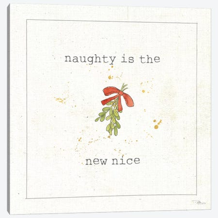 Christmas Cuties III - Naughty is the New Nice Canvas Print #WAC8891} by Pela Studio Canvas Wall Art