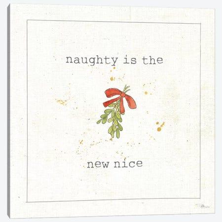 Christmas Cuties III - Naughty is the New Nice Canvas Print #WAC8891} by Pela Studio Canvas Wall Art