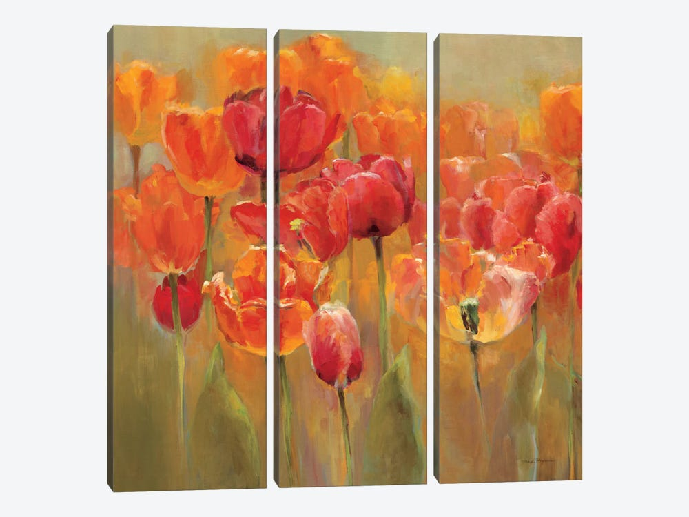 Tulips in the Midst IV by Marilyn Hageman 3-piece Canvas Artwork