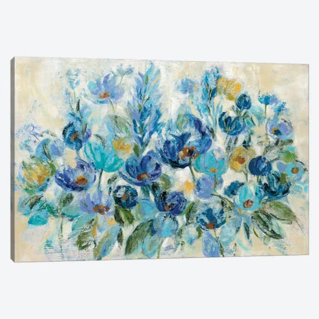 Scattered Blue Flowers Canvas Print #WAC8910} by Silvia Vassileva Art Print