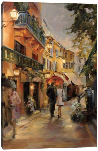 Evening in Paris I by Marilyn Hageman Canvas Art Print