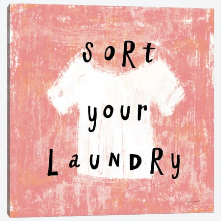 Laundry Rules III Canvas Print #WAC8922} by Sue Schlabach Canvas Wall Art