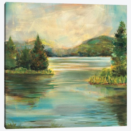 Silver Lake Canvas Print #WAC8926} by Sue Schlabach Art Print