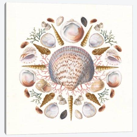 Ocean Mandala I Canvas Print #WAC8932} by Wild Apple Portfolio Canvas Art Print