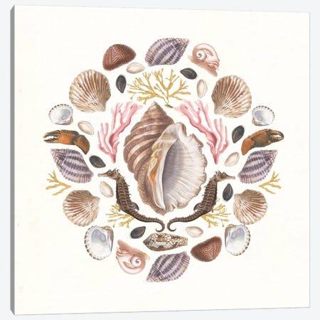 Ocean Mandala III Canvas Print #WAC8934} by Wild Apple Portfolio Canvas Artwork