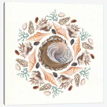 Ocean Mandala IV Canvas Print #WAC8935} by Wild Apple Portfolio Canvas Artwork