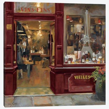 Parisian Wine Shop Red Crop  Canvas Print #WAC894} by Marilyn Hageman Canvas Artwork