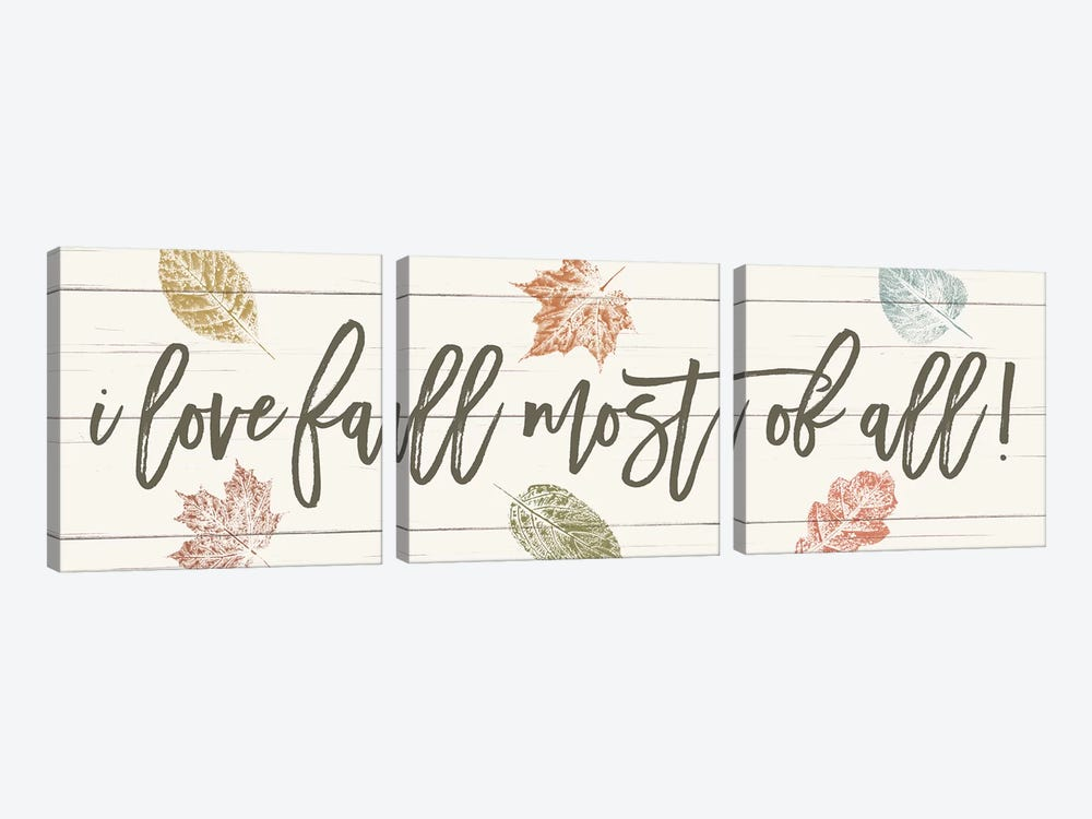 Harvest Sentiments Sign I by Moira Hershey 3-piece Art Print
