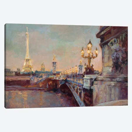 Parisian Evening Crop  Canvas Print #WAC895} by Marilyn Hageman Canvas Wall Art
