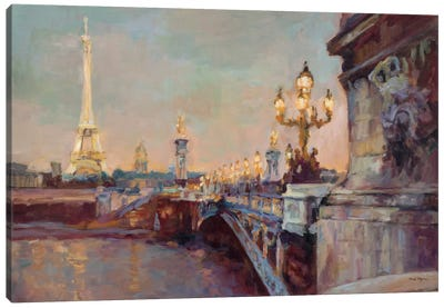 Parisian Evening Crop  Canvas Art Print