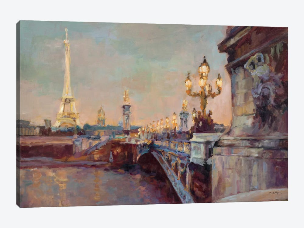 Parisian Evening Crop  by Marilyn Hageman 1-piece Canvas Art Print