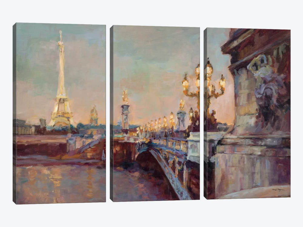 Parisian Evening Crop by Marilyn Hageman 3-piece Art Print