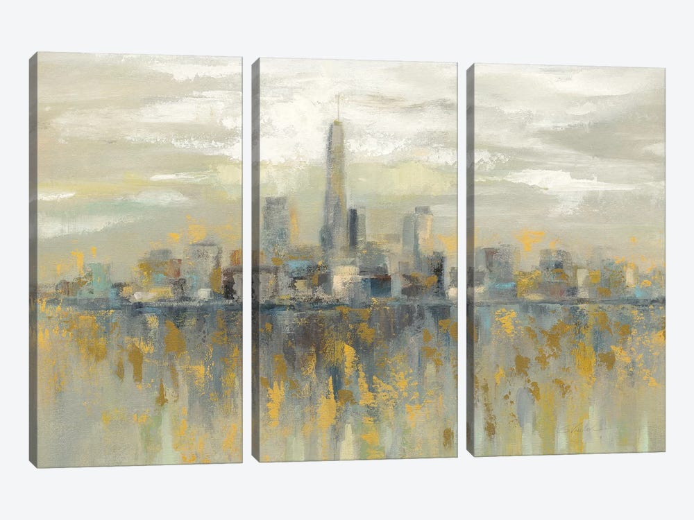 Manhattan Fog by Silvia Vassileva 3-piece Canvas Art Print