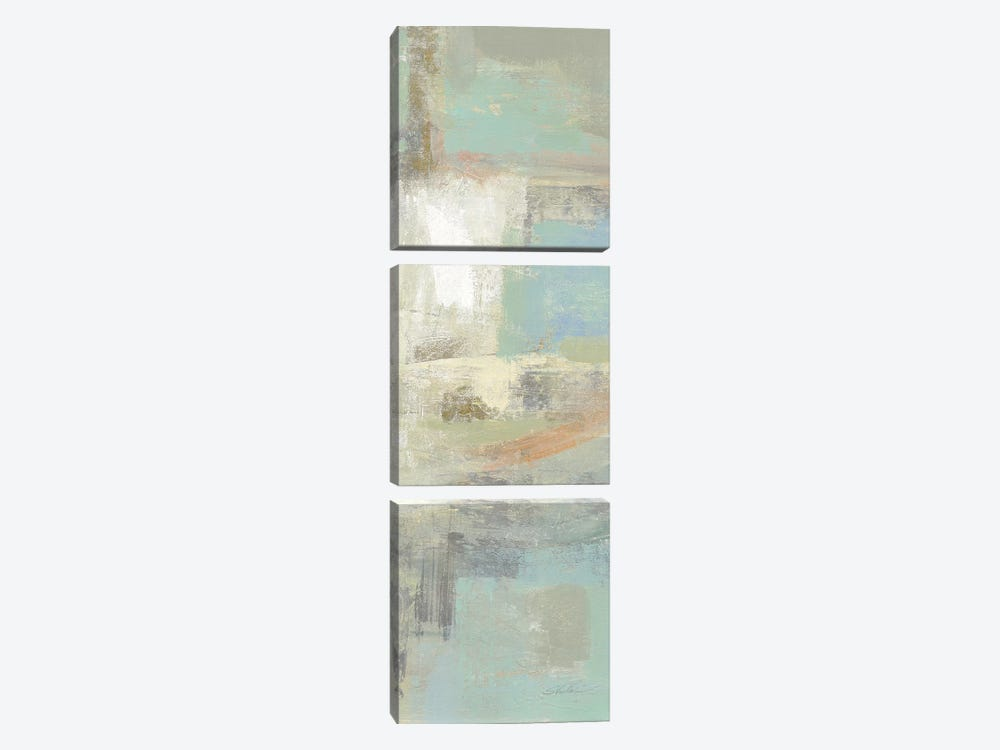 Shades Of Celedon III by Silvia Vassileva 3-piece Canvas Art
