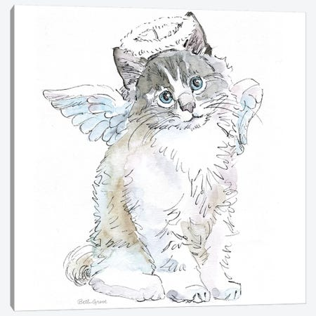Christmas Kitties I Canvas Print #WAC8979} by Beth Grove Canvas Print