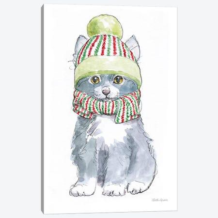 Christmas Kitties II Canvas Print #WAC8980} by Beth Grove Canvas Wall Art