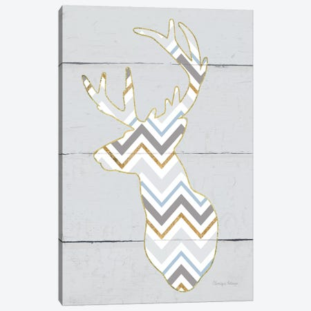 Floral Deer II, Masculine Canvas Print #WAC8981} by Cleonique Hilsaca Canvas Artwork