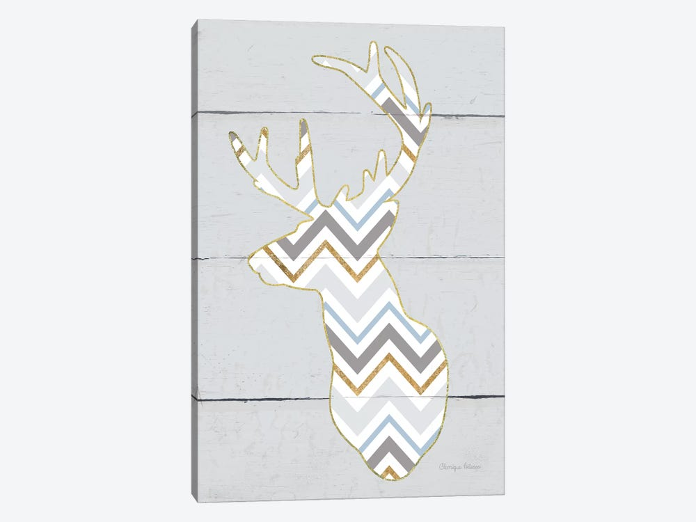 Floral Deer II, Masculine by Cleonique Hilsaca 1-piece Canvas Artwork