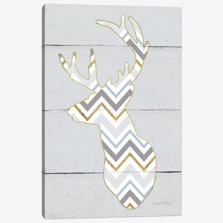 Floral Deer II, Masculine Canvas Print #WAC8981} by Cleonique Hilsaca Canvas Artwork