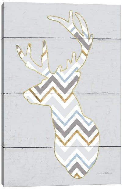 Floral Deer II, Masculine Canvas Art Print