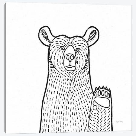 Forest Friends IV Black And White Bear Canvas Print #WAC8991} by Elyse DeNeige Art Print