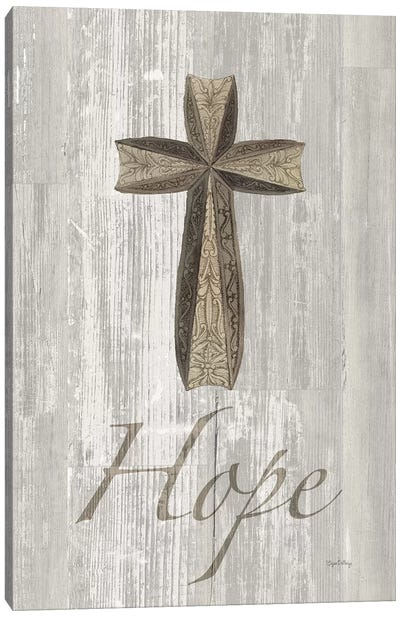 Words For Worship Hope On Wood Canvas Art Print