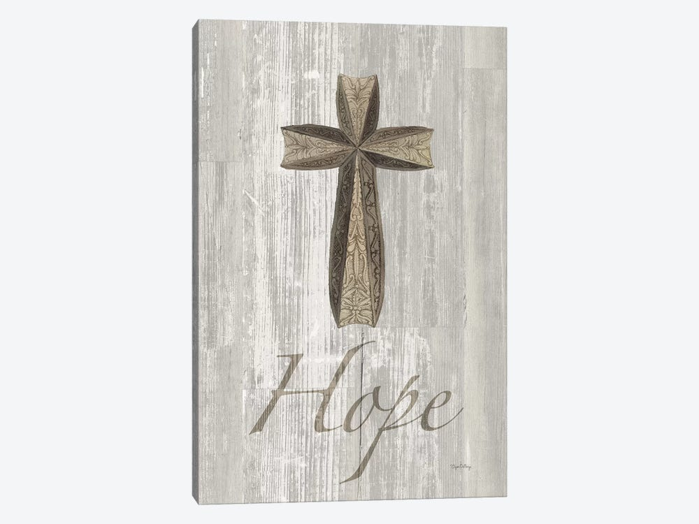 Words For Worship Hope On Wood by Elyse DeNeige 1-piece Canvas Artwork