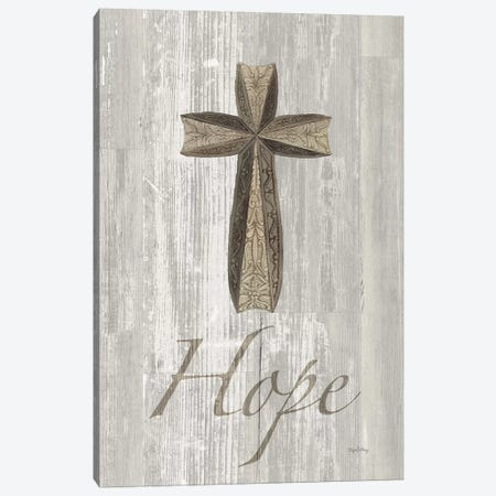 Words For Worship Hope On Wood Canvas Print #WAC8992} by Elyse DeNeige Art Print