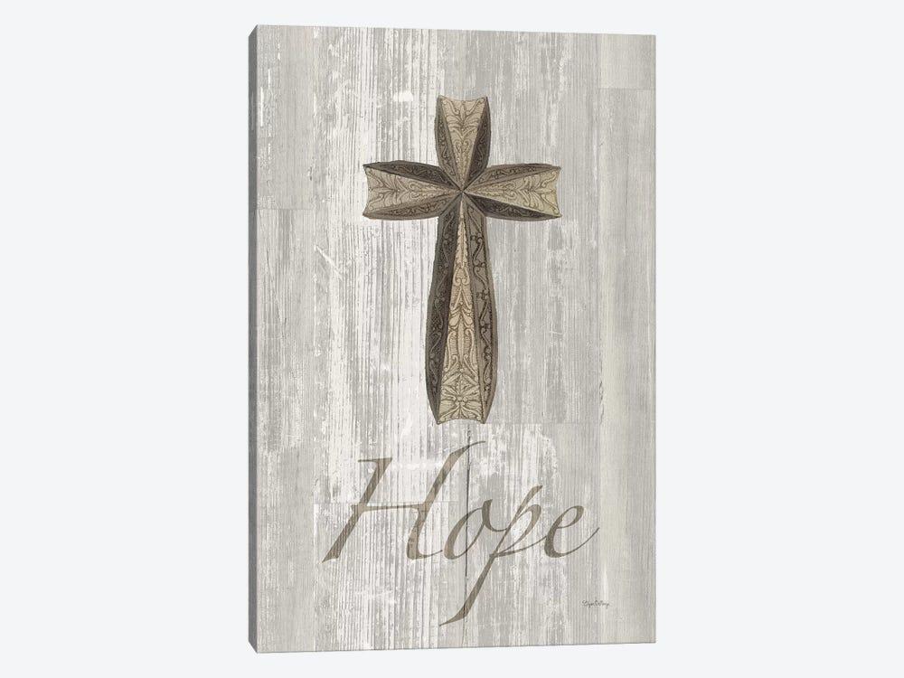 Words For Worship Hope On Wood by Elyse DeNeige 1-piece Canvas Artwork
