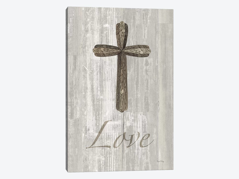 Words For Worship Love On Wood by Elyse DeNeige 1-piece Art Print