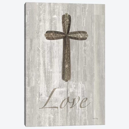 Words For Worship Love On Wood 3-Piece Canvas #WAC8993} by Elyse DeNeige Art Print