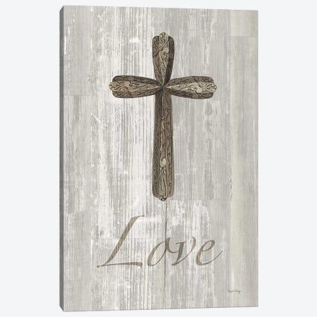 Words For Worship Love On Wood Canvas Print #WAC8993} by Elyse DeNeige Art Print