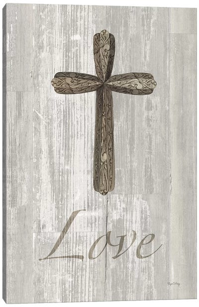 Words For Worship Love On Wood Canvas Art Print