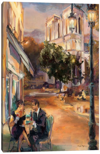 Twilight Time in Paris  by Marilyn Hageman Canvas Art Print