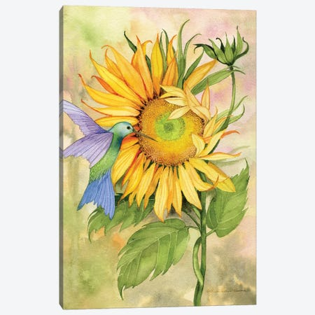 Summer Fun Bird Canvas Print #WAC9008} by Kathleen Parr McKenna Canvas Art
