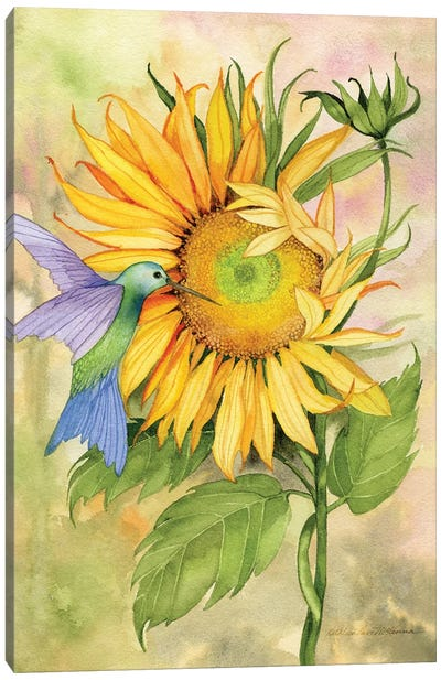 Summer Fun Bird Canvas Art Print