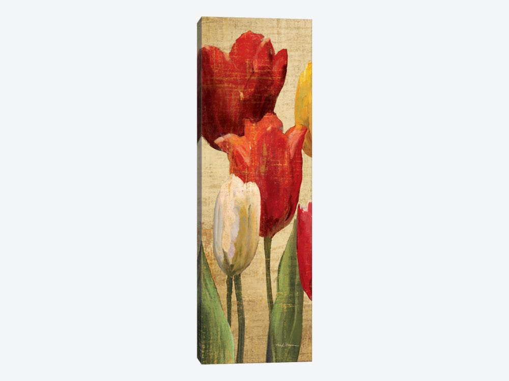Tulip Fantasy on Cream II  by Marilyn Hageman 1-piece Canvas Wall Art