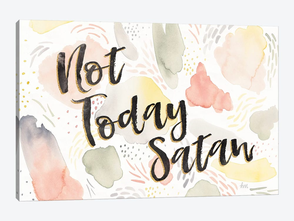Meadow Breeze VI Not Today Satan by Laura Marshall 1-piece Canvas Print