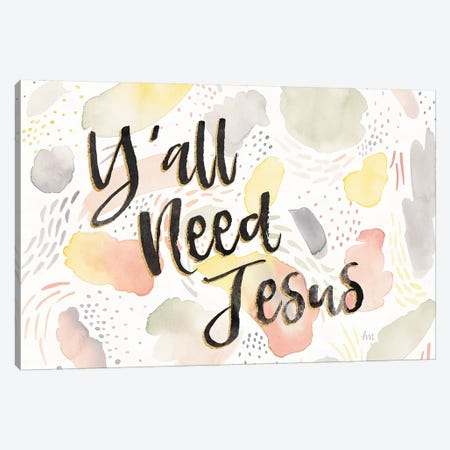 Meadow Breeze VII Y'all Need Jesus Canvas Print #WAC9012} by Laura Marshall Canvas Art Print