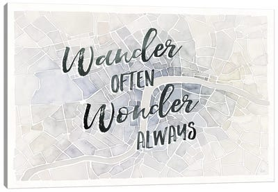 Watercolor Wanderlust London Adventure Canvas Art Print
