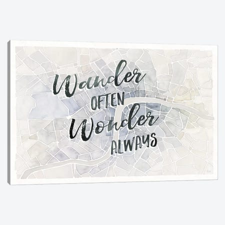 Watercolor Wanderlust London Adventure Canvas Print #WAC9013} by Laura Marshall Canvas Print