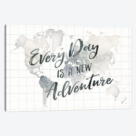 Watercolor Wanderlust World Adventure Canvas Print #WAC9015} by Laura Marshall Canvas Art