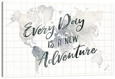 Watercolor Wanderlust World Adventure Canvas Art Print
