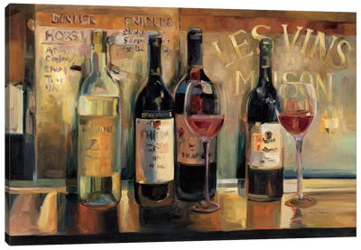 Les Vins Maison  by Marilyn Hageman Canvas Art Print