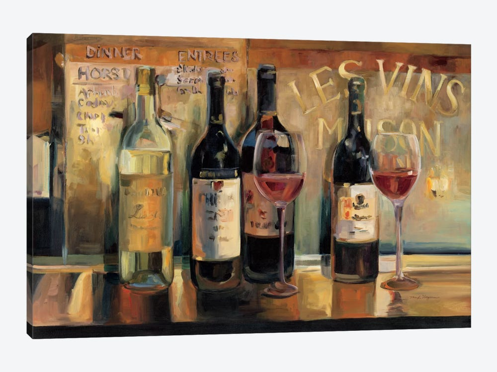 Les Vins Maison  by Marilyn Hageman 1-piece Canvas Artwork