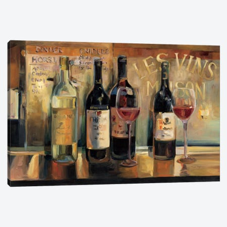 Les Vins Maison  Canvas Print #WAC902} by Marilyn Hageman Canvas Print