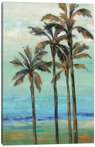 Copper Palms I Canvas Art Print