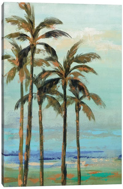 Copper Palms II Canvas Art Print