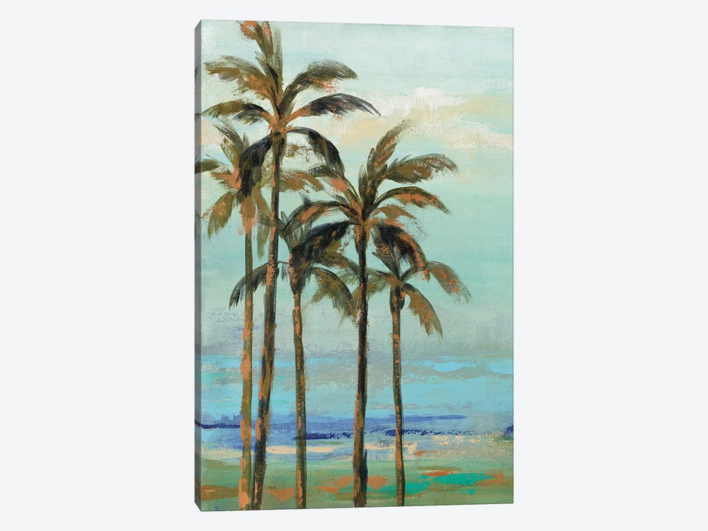 Copper Palms II by Silvia Vassileva 1-piece Canvas Print